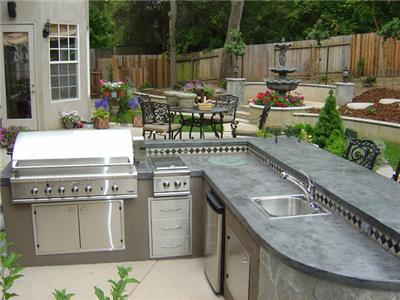 Stucco and Granite Outdoor Kitchen Lifestyle Outdoor Kitchens