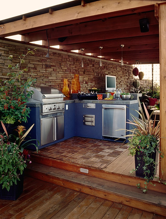 Modern Outdoor Kitchen Lifestyle Outdoor Kitchens