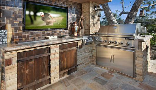 Rustic Outdoor Kitchen Lifestyle Outdoor Kitchens