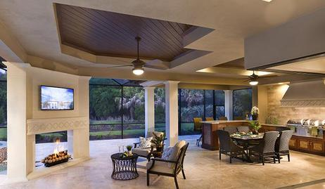 Luxury Outdoor Kitchen with fireplace by Lifestyle Outdoor Kitchens